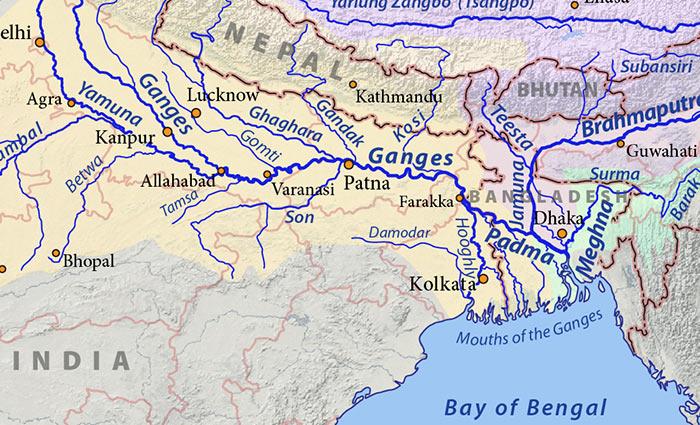 доставка воды Ганга